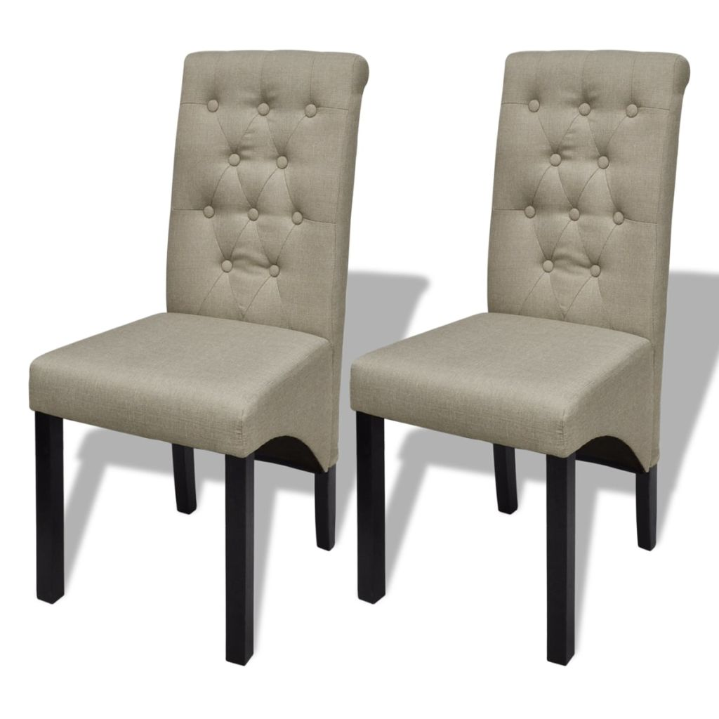 lot de 2 chaises de salle manger beige