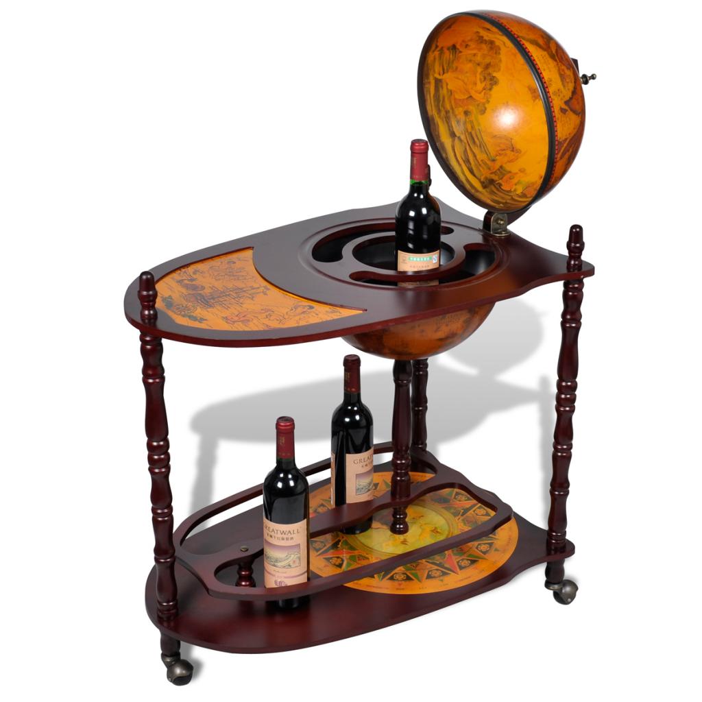 table bar globe sur roulettes. Black Bedroom Furniture Sets. Home Design Ideas