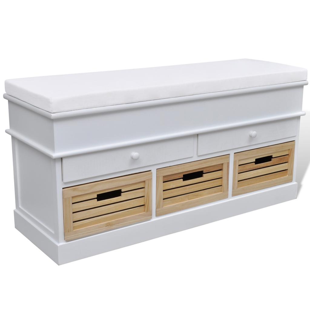 banc de rangement avec paniers. Black Bedroom Furniture Sets. Home Design Ideas