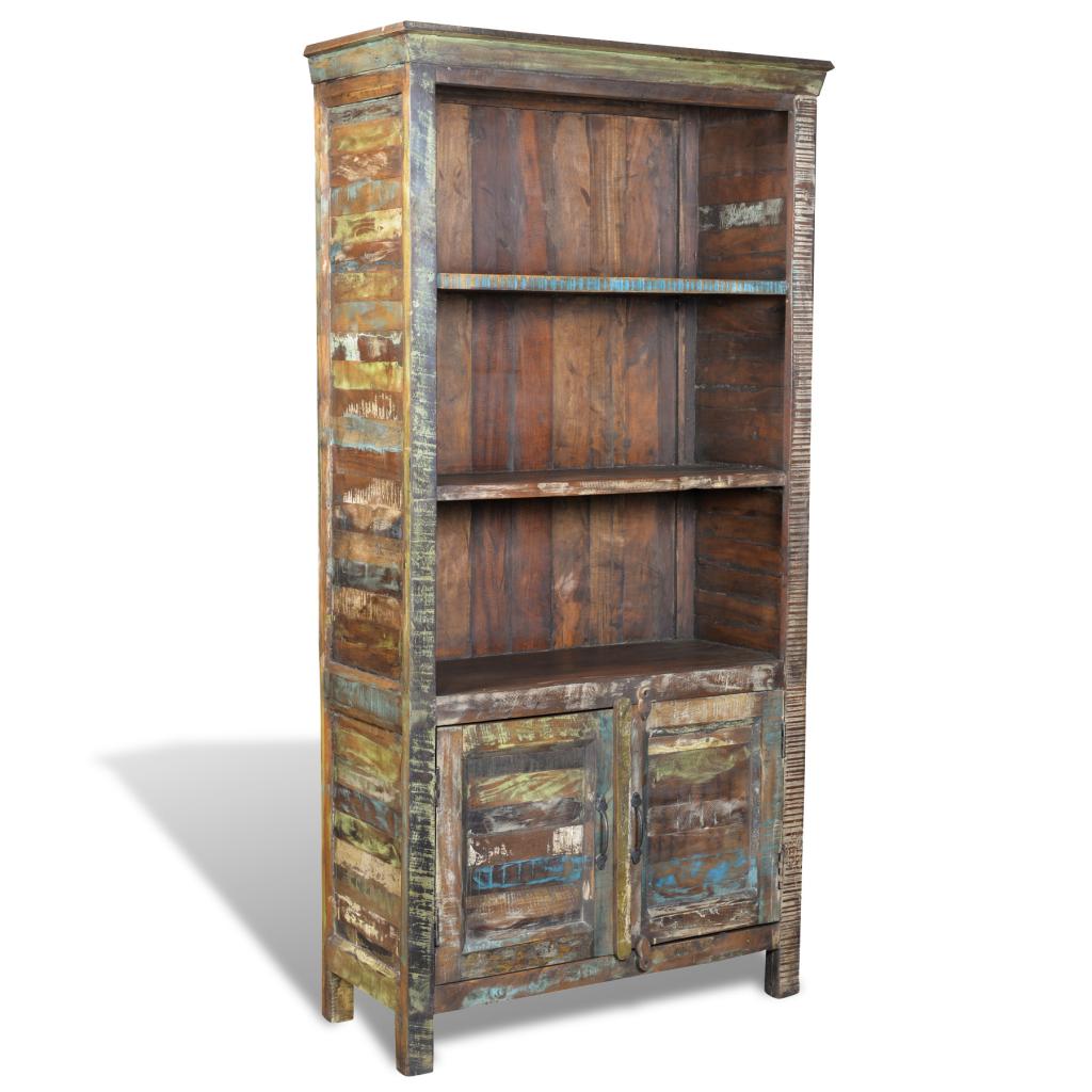 biblioth que vintage en bois recycl s. Black Bedroom Furniture Sets. Home Design Ideas