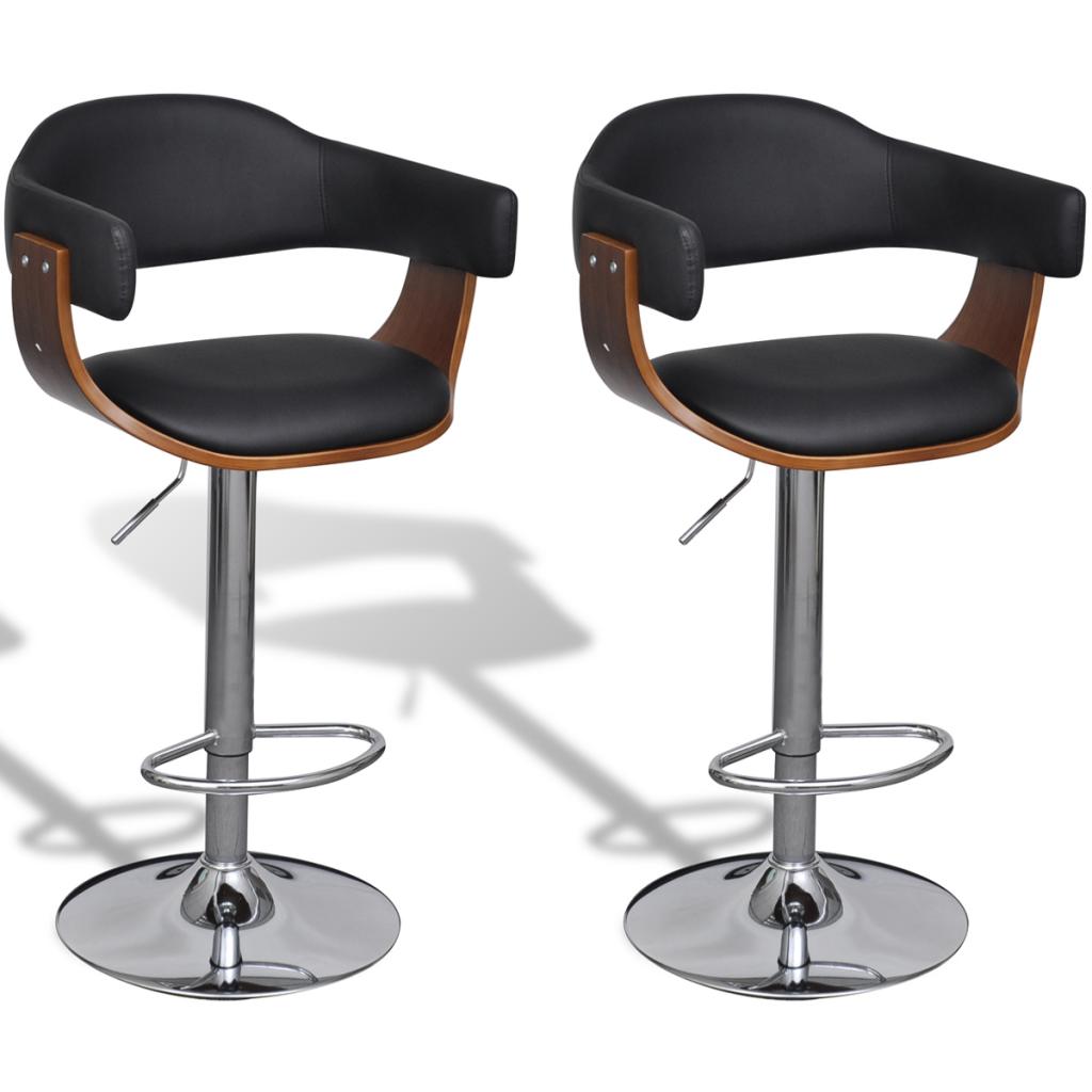 tabourets de bar pivotant avec accoudoirs en ska et. Black Bedroom Furniture Sets. Home Design Ideas
