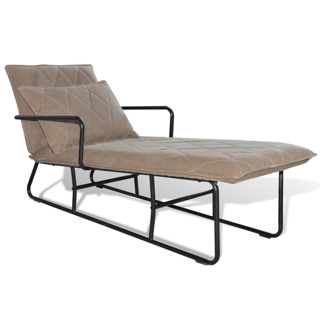 Chaise longue avec accoudoir brun clair for Acheter chaises longues