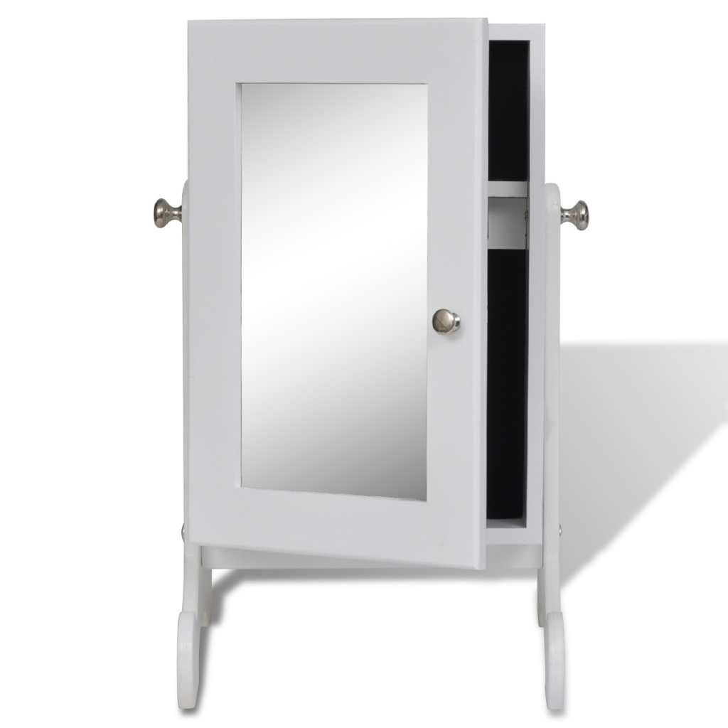 armoire bijoux sur pied avec miroir. Black Bedroom Furniture Sets. Home Design Ideas