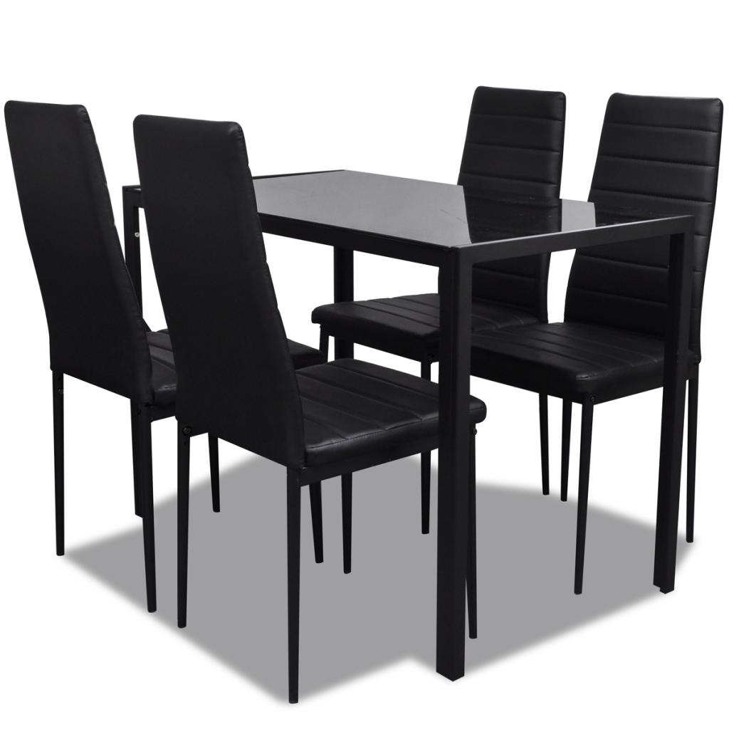 Ensemble Table Et Chaises Noir 4 Personnes