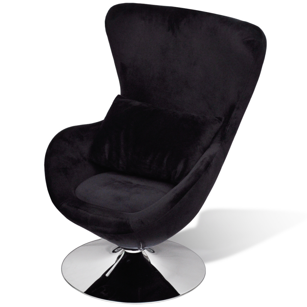 fauteuil uf pivotant avec coussin noir interougehome. Black Bedroom Furniture Sets. Home Design Ideas