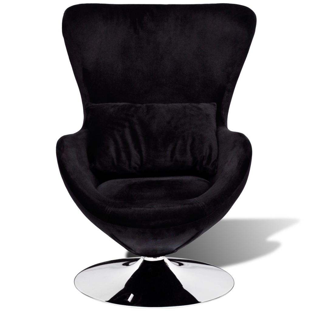 fauteuil uf pivotant avec coussin noir interougehome. Black Bedroom Furniture Sets. Home Design Ideas
