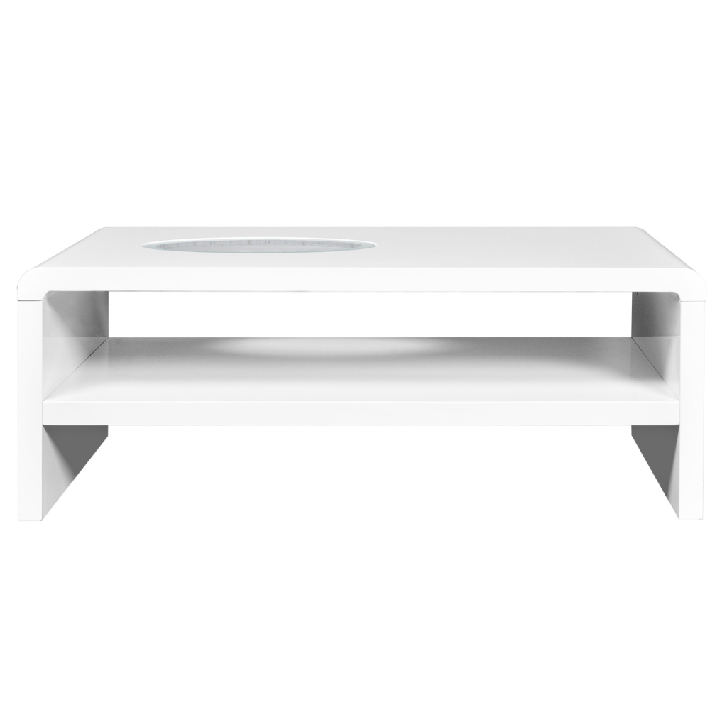 d s meuble tv table basse blanc brillant led. Black Bedroom Furniture Sets. Home Design Ideas