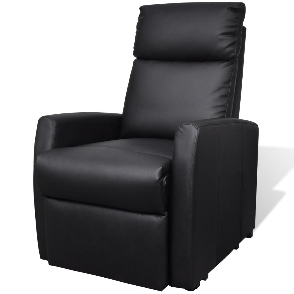 fauteuil lectrique inclinable noir. Black Bedroom Furniture Sets. Home Design Ideas