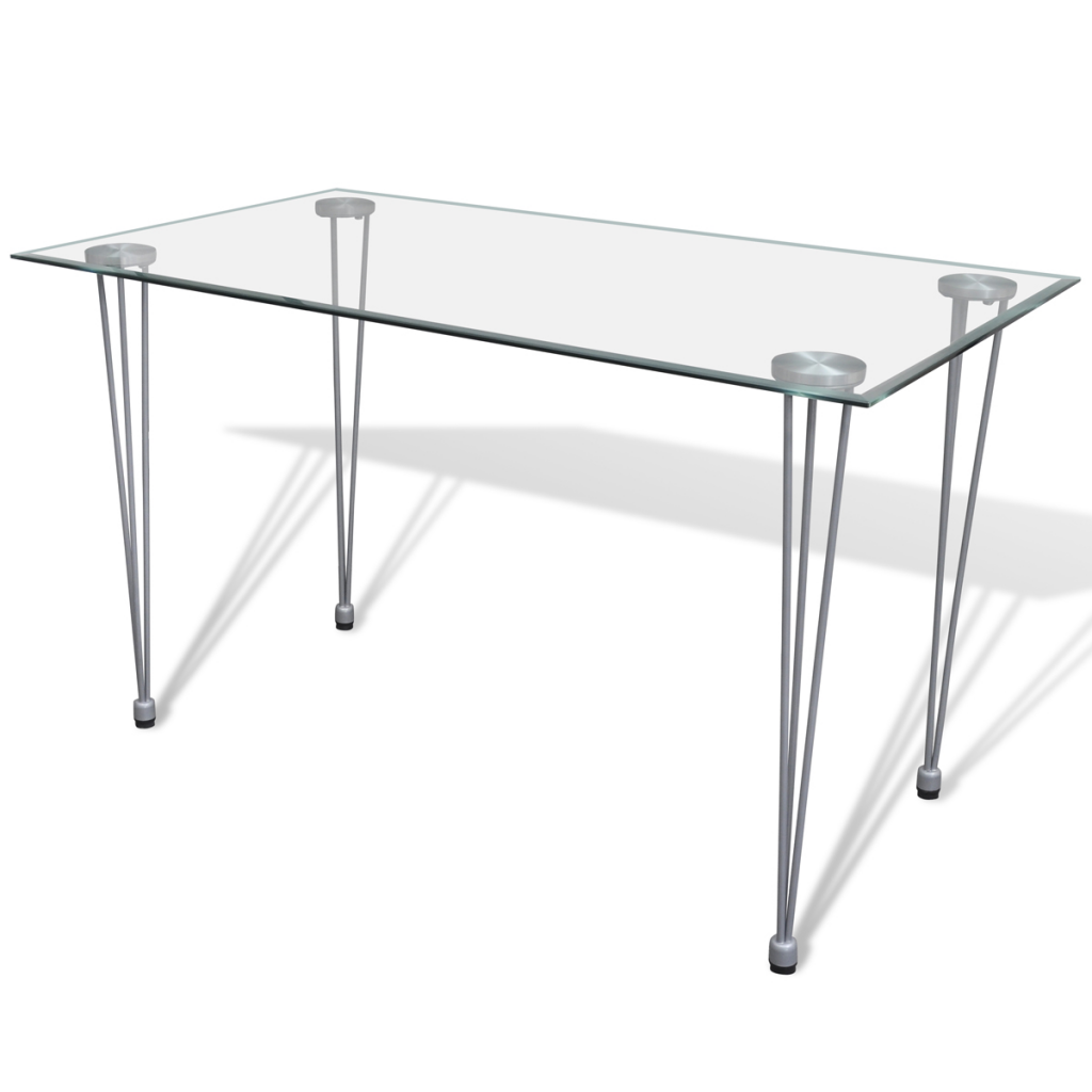 Table transparente avec plateau en verre - Table a manger transparente ...