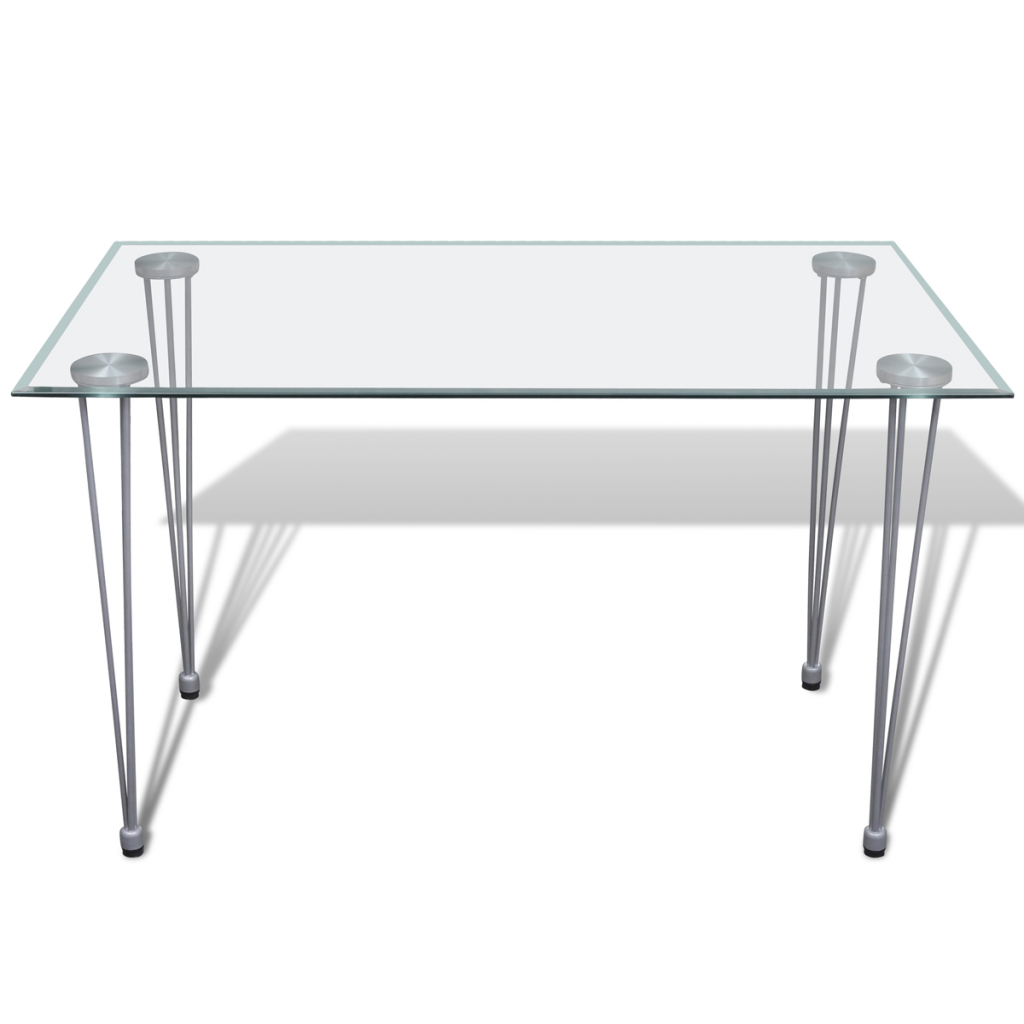 table transparente avec plateau en verre. Black Bedroom Furniture Sets. Home Design Ideas