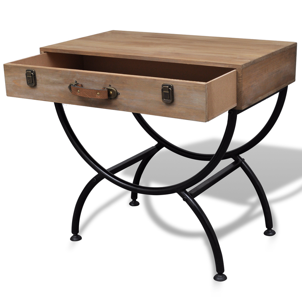 table d 39 appoint rustique en bois. Black Bedroom Furniture Sets. Home Design Ideas