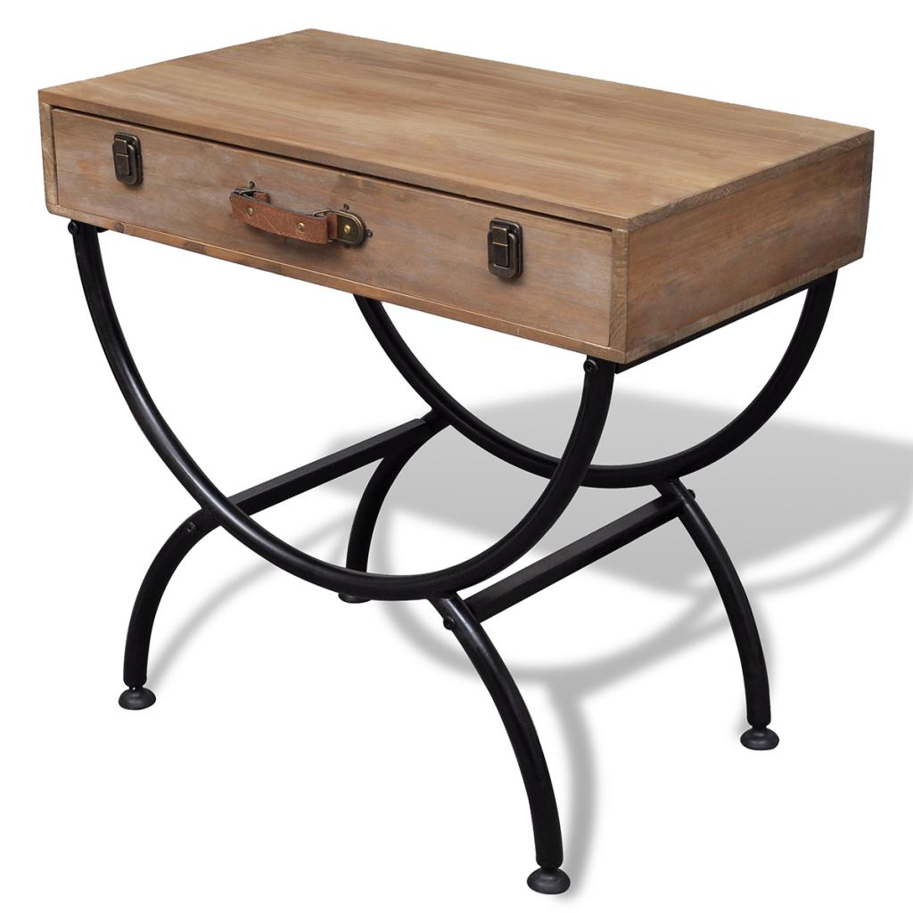 table d 39 appoint rustique en bois. Black Bedroom Furniture Sets. Home Design Ideas