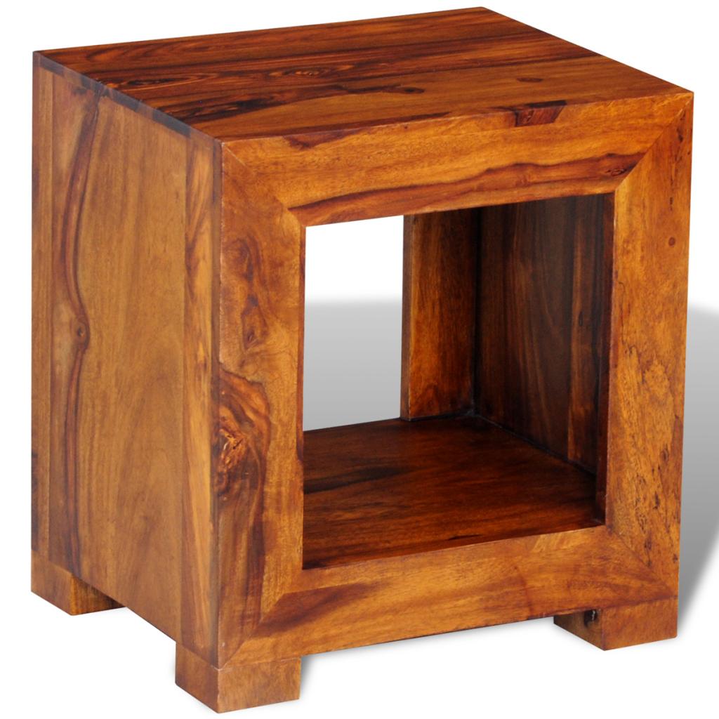 table basse d 39 appoint en bois massif. Black Bedroom Furniture Sets. Home Design Ideas