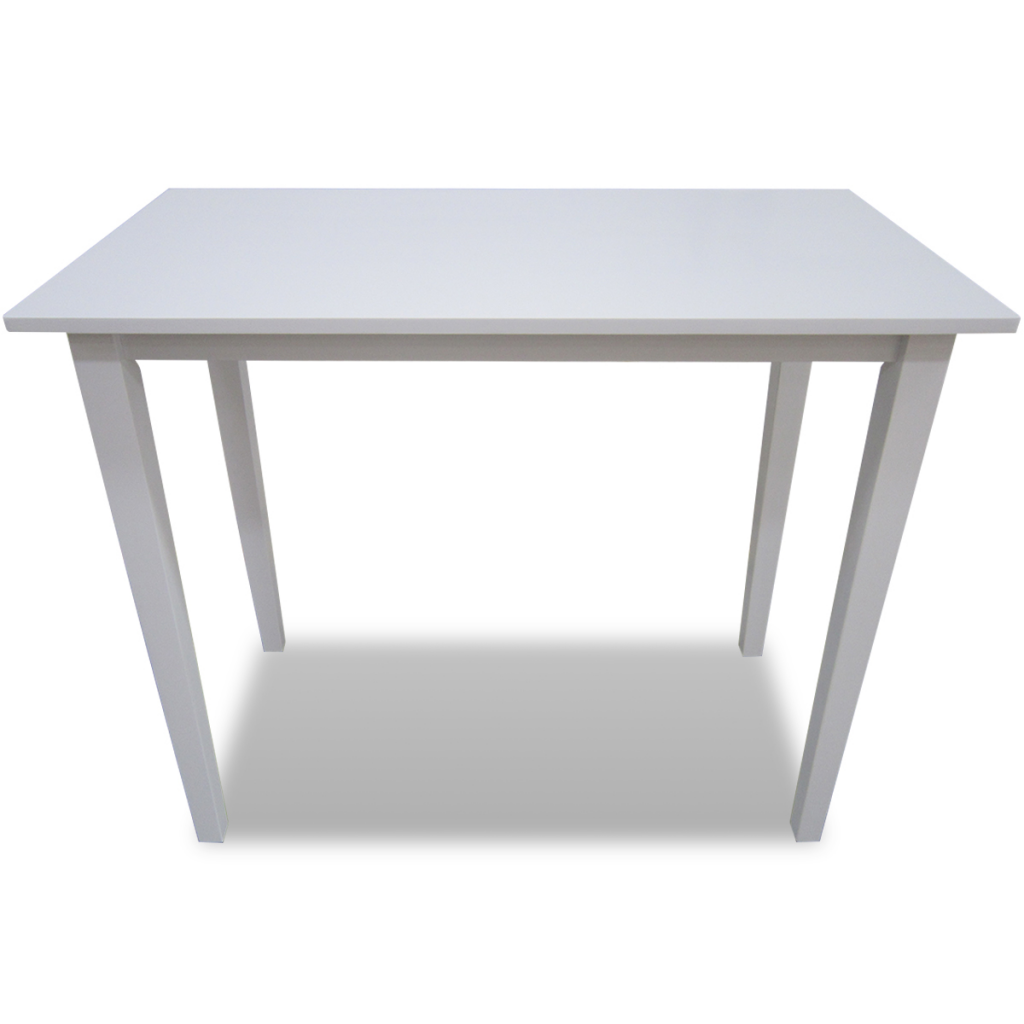 Table haute en bois blanc for Table haute exterieure