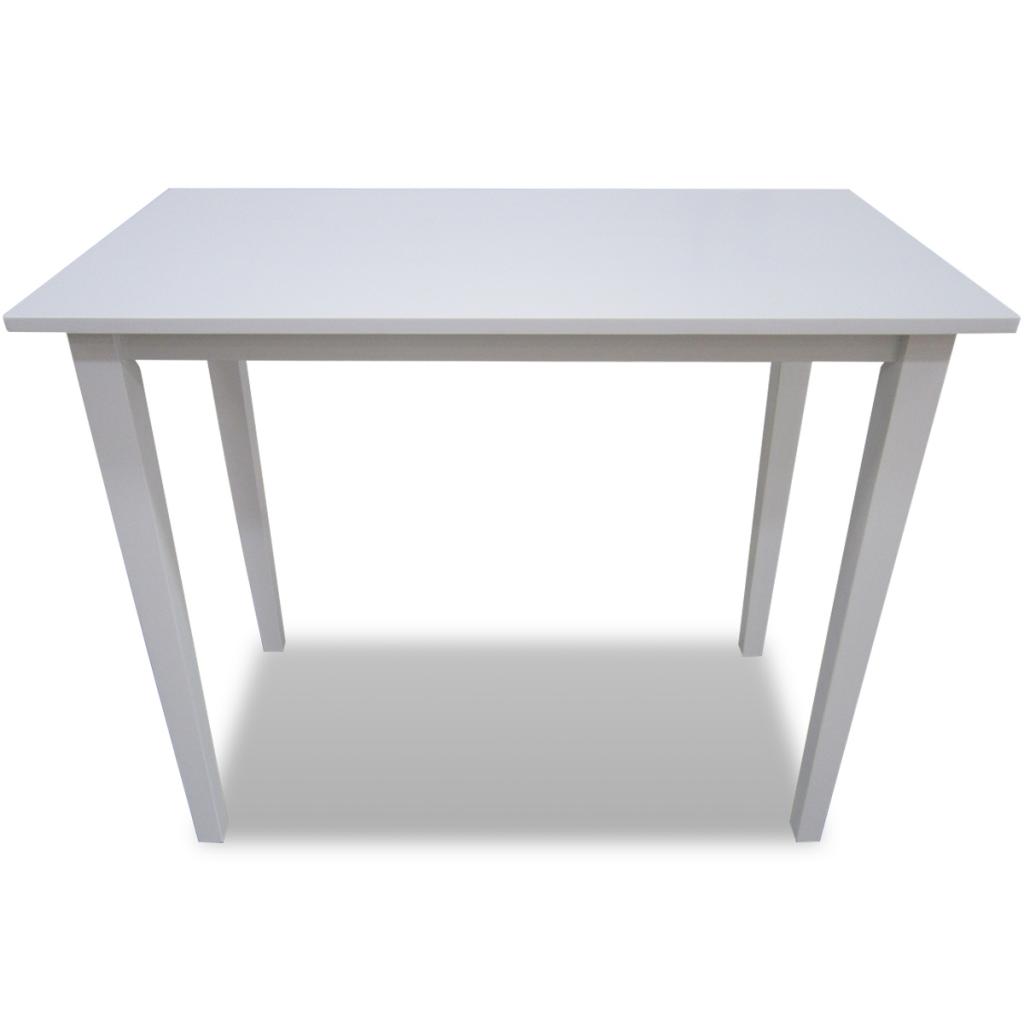 table haute en bois blanc. Black Bedroom Furniture Sets. Home Design Ideas