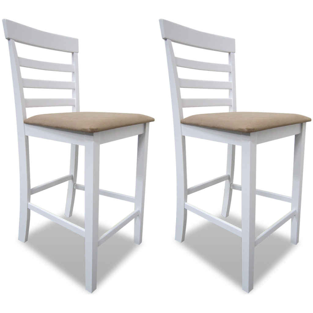 chaises de bar en h v a style rustique lot de 2. Black Bedroom Furniture Sets. Home Design Ideas
