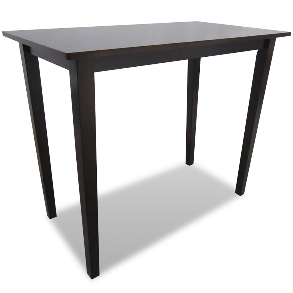 table haute en bois marron. Black Bedroom Furniture Sets. Home Design Ideas
