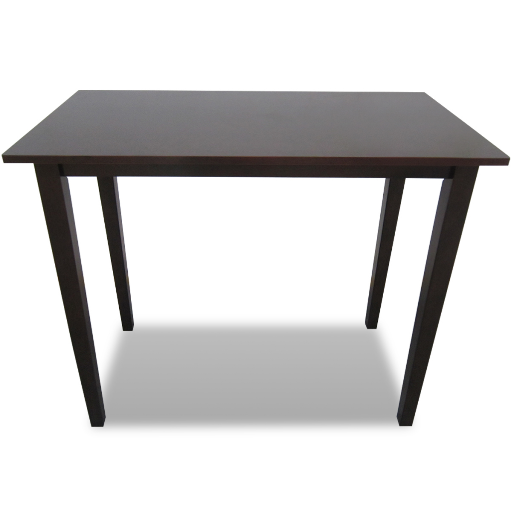 Table haute en bois marron for Table haute exterieure