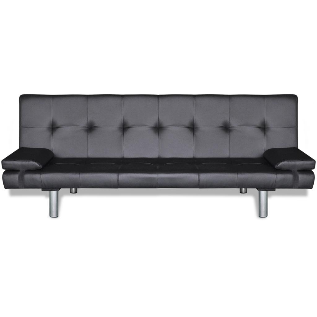 canap clic clac noir r glable 3 positions. Black Bedroom Furniture Sets. Home Design Ideas