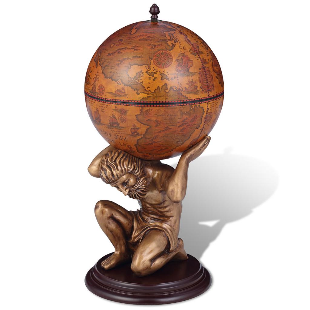 bar globe terrestre armoire vin atlas 42 x 42 x 85 cm. Black Bedroom Furniture Sets. Home Design Ideas