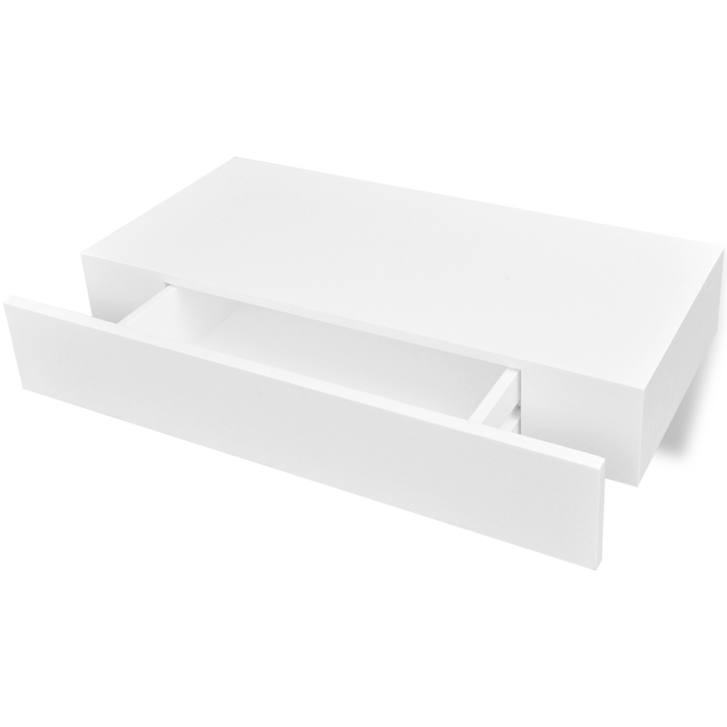 d s etag re murale blanche avec tiroir. Black Bedroom Furniture Sets. Home Design Ideas