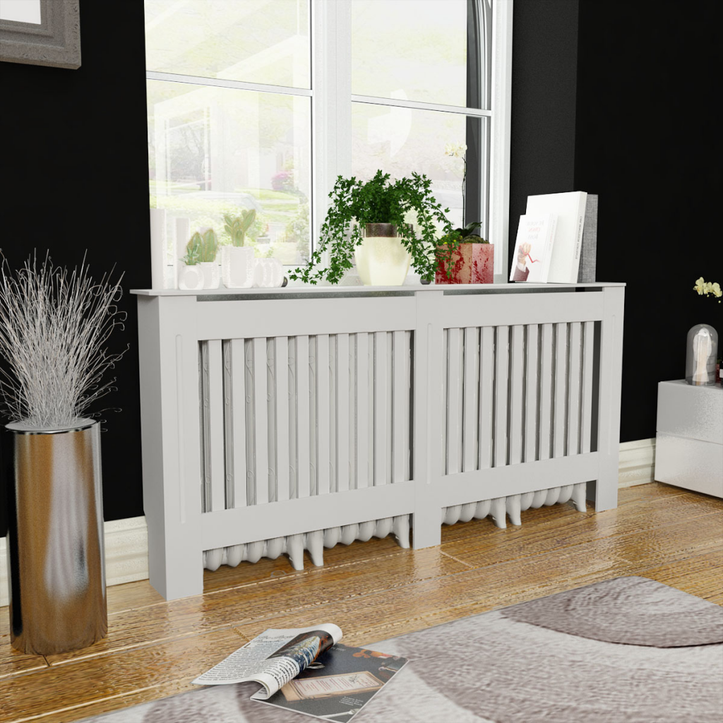 cache radiateur blanc 172 cm. Black Bedroom Furniture Sets. Home Design Ideas