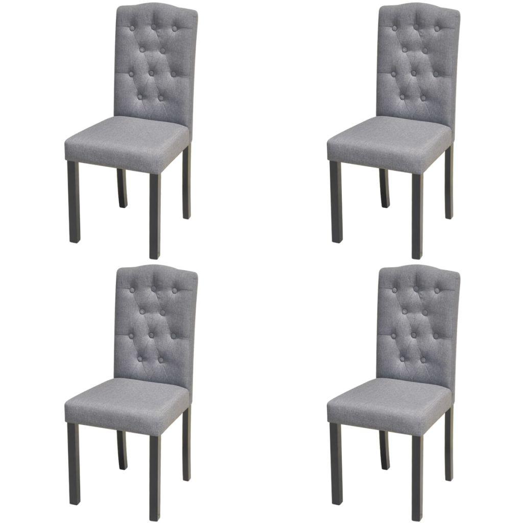 Dès 219.99€, Chaises en tissu pour salle à manger Gris Foncé -  Interougehome.com