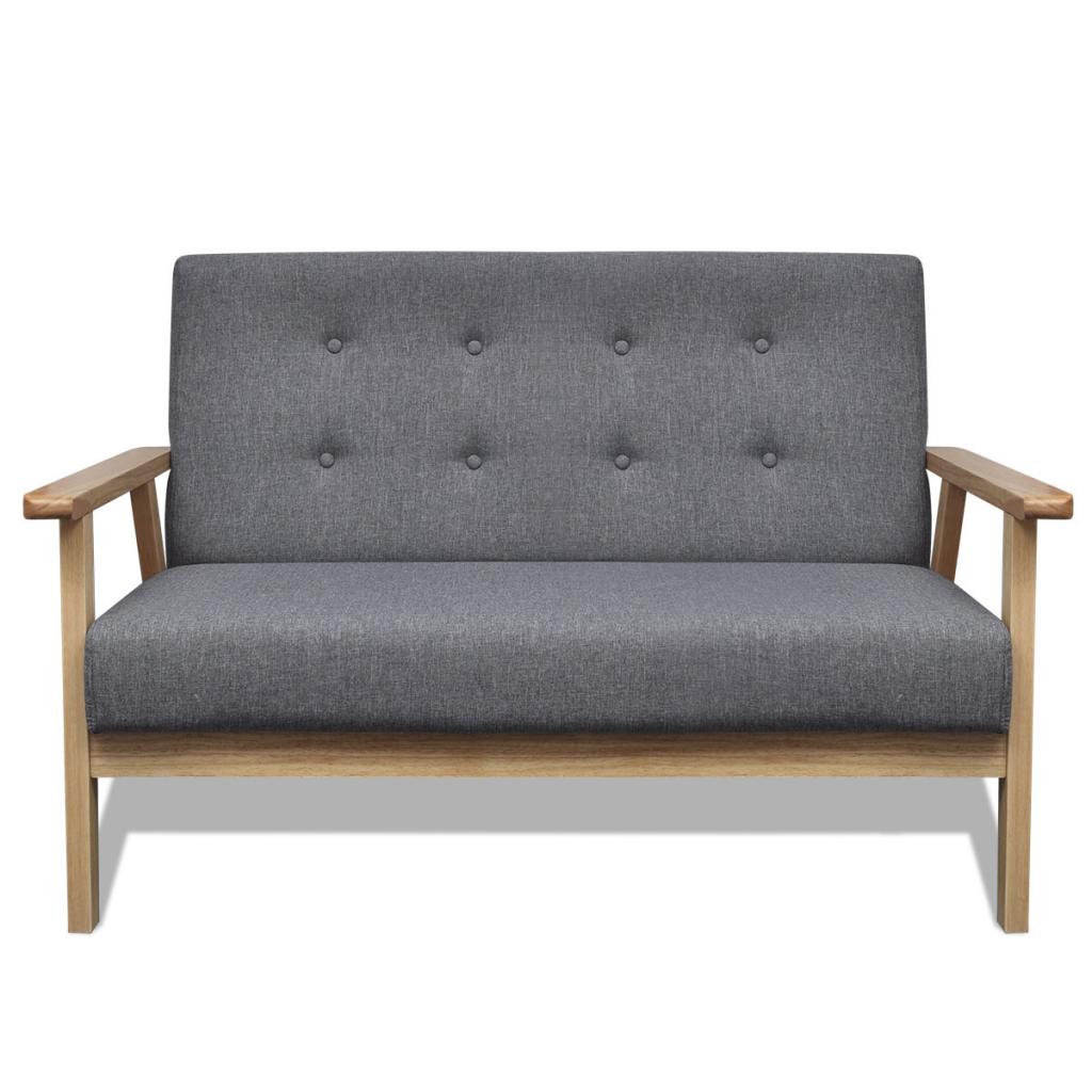 canap r tro en bois gris interougehome. Black Bedroom Furniture Sets. Home Design Ideas