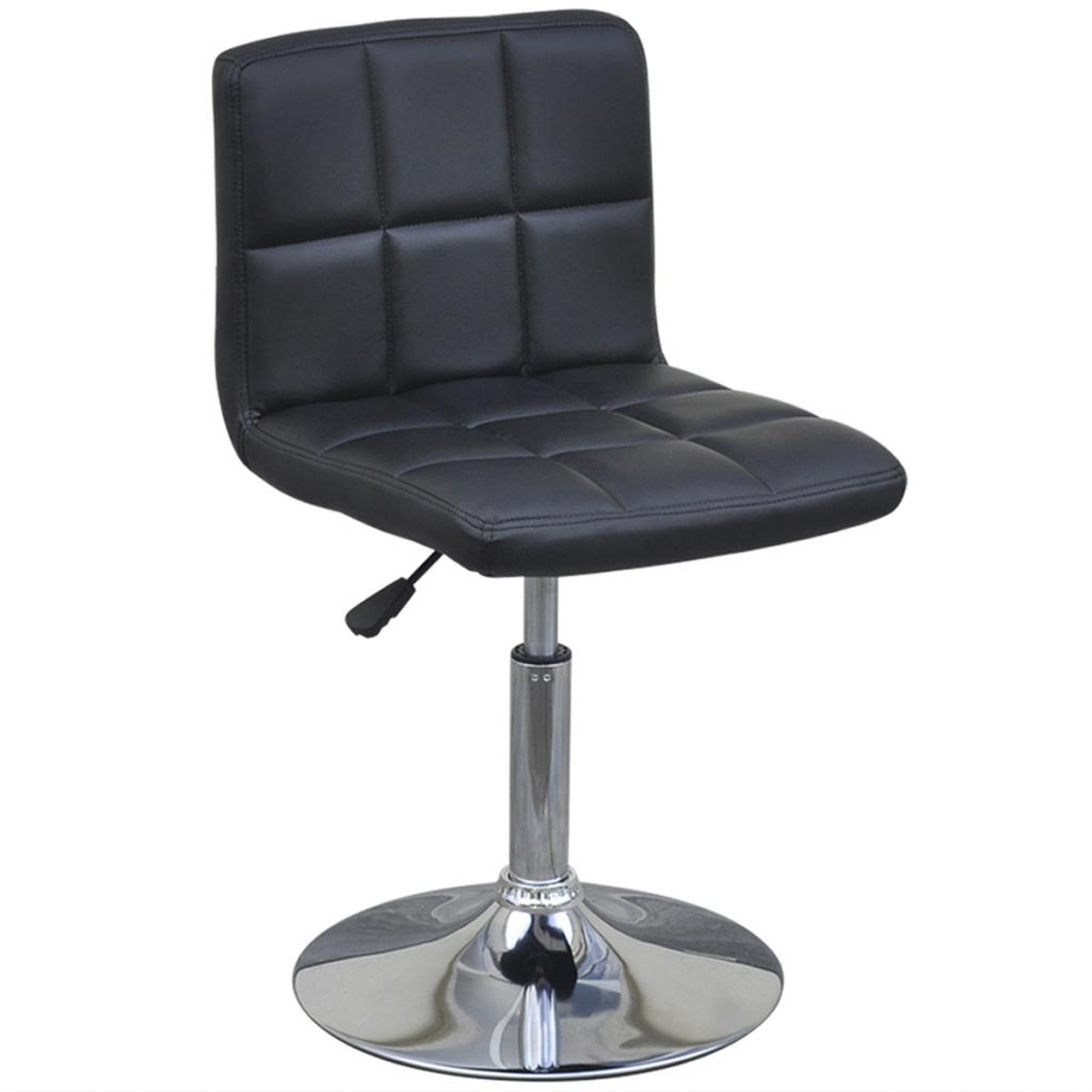 chaises de bar pivotantes en ska noir avec dossier lot de 4. Black Bedroom Furniture Sets. Home Design Ideas