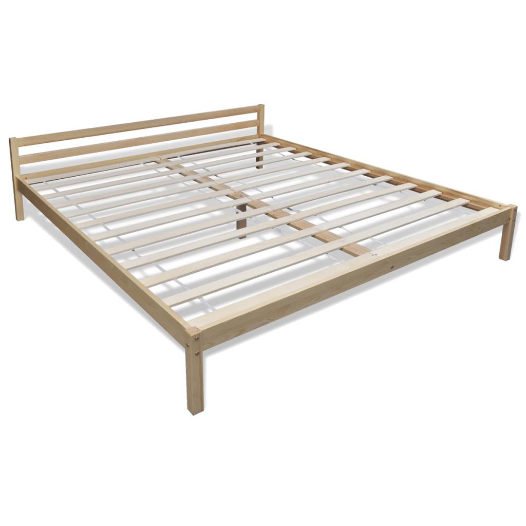 lit 200 x 160 cm en pin massif. Black Bedroom Furniture Sets. Home Design Ideas