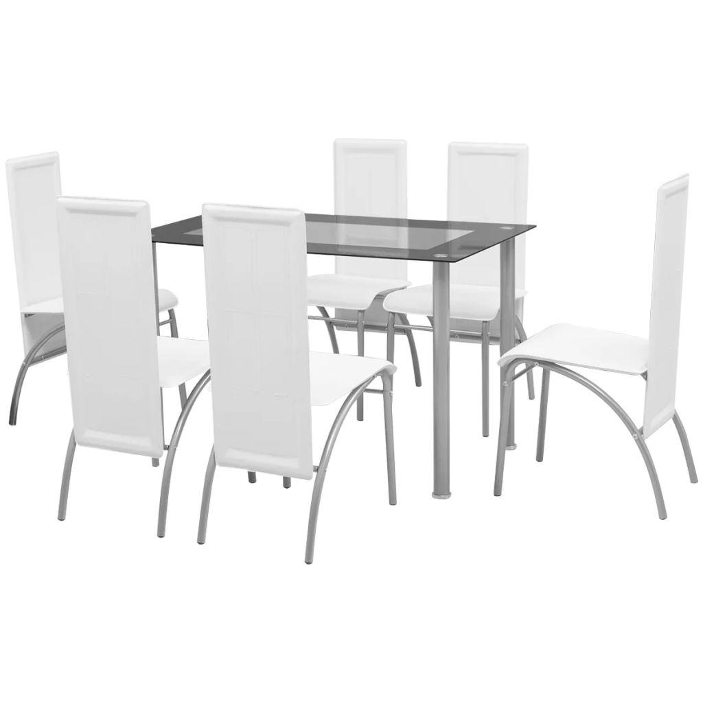 Ensemble De Table Et Chaises 6 Personnes Blanc