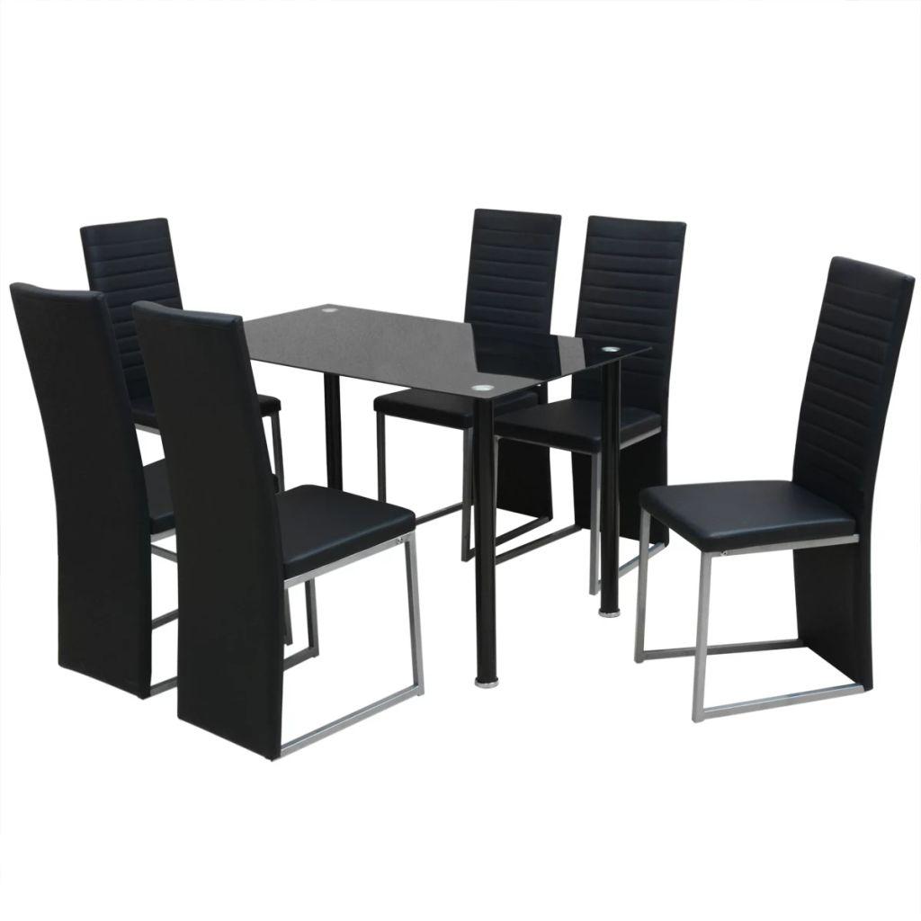 Ensemble De Table Et Chaises 6 Personnes Noir