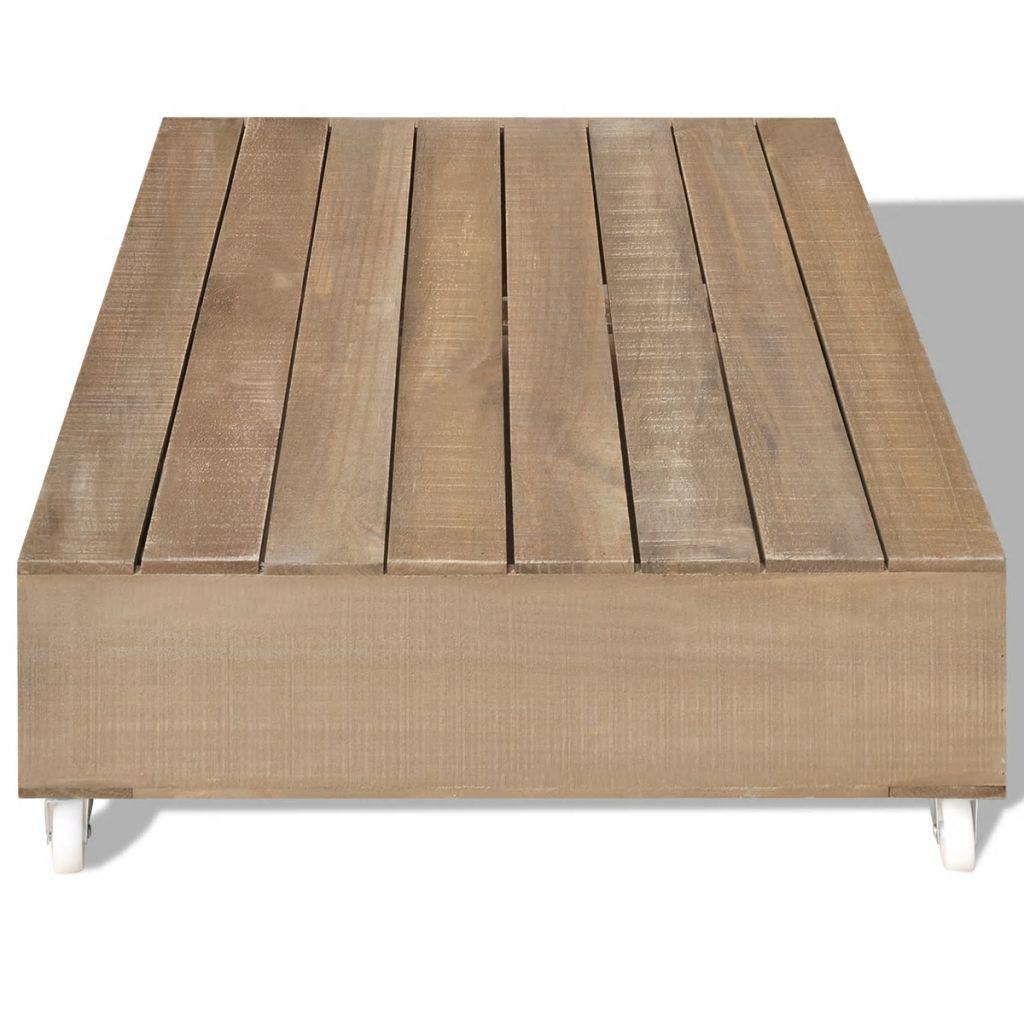 Des 139 99 Table Basse Bois Massif Style Industriel