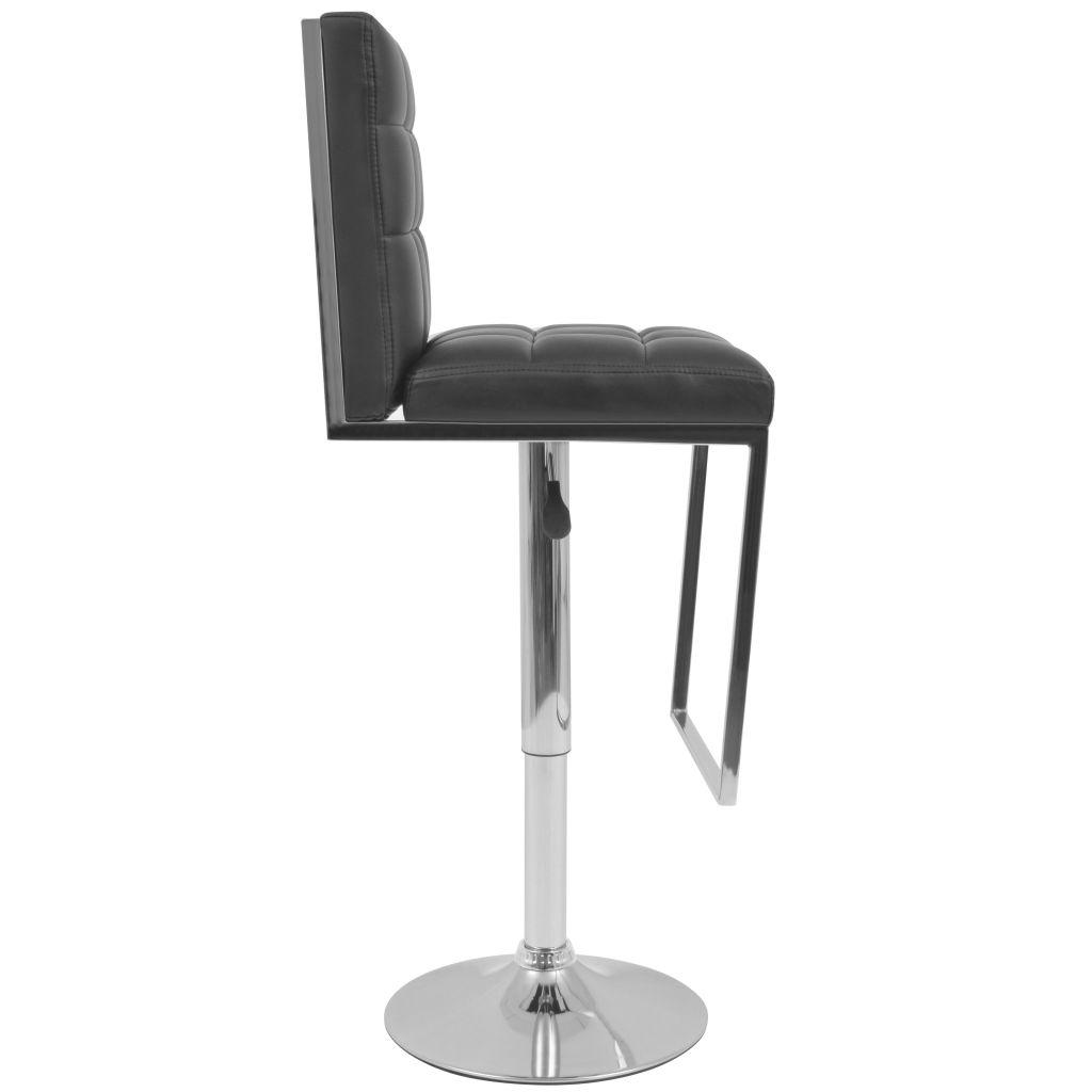 tabouret pivotant de bar 2 pcs cuir artificiel noir. Black Bedroom Furniture Sets. Home Design Ideas