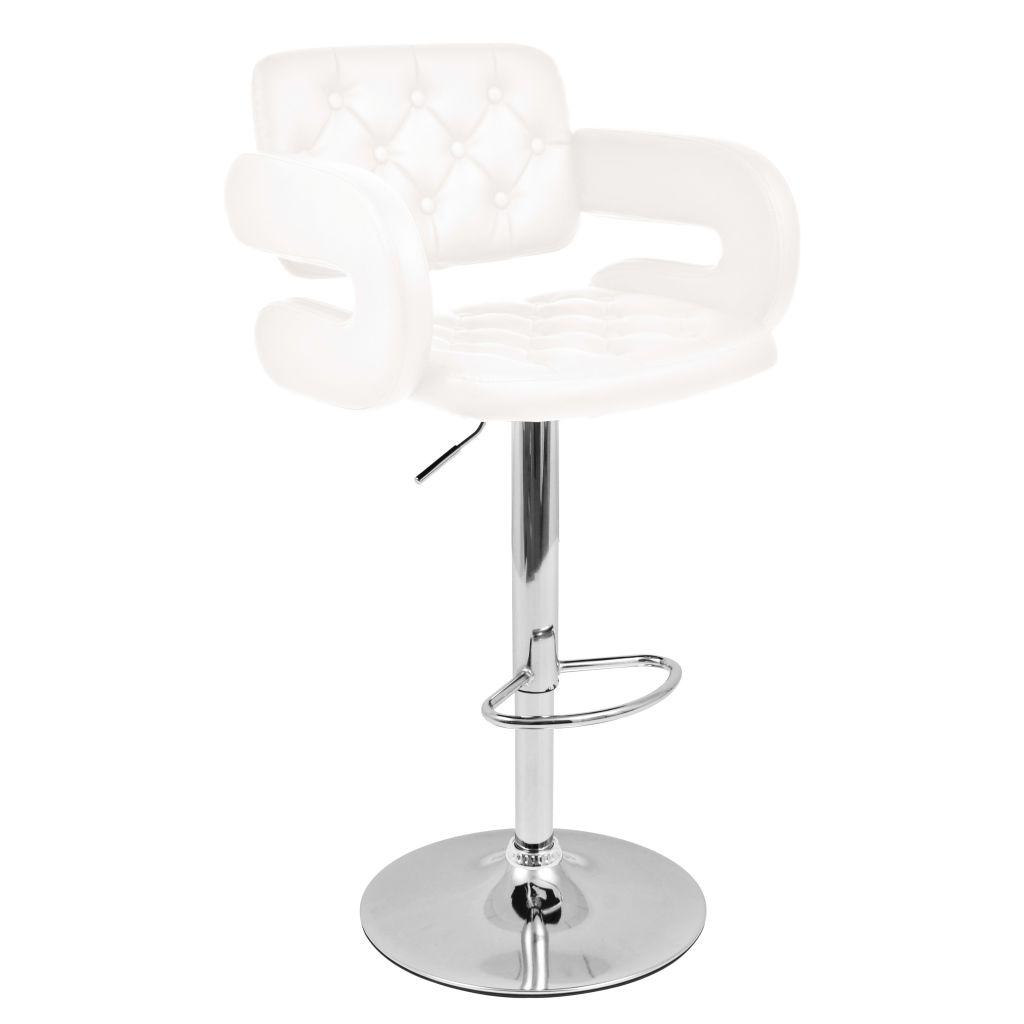 tabouret pivotant de bar 2 pcs cuir artificiel blanc. Black Bedroom Furniture Sets. Home Design Ideas