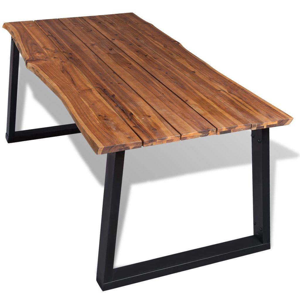Des 469 99 Table De Salle A Manger Bois D Acacia Massif 180 X 90