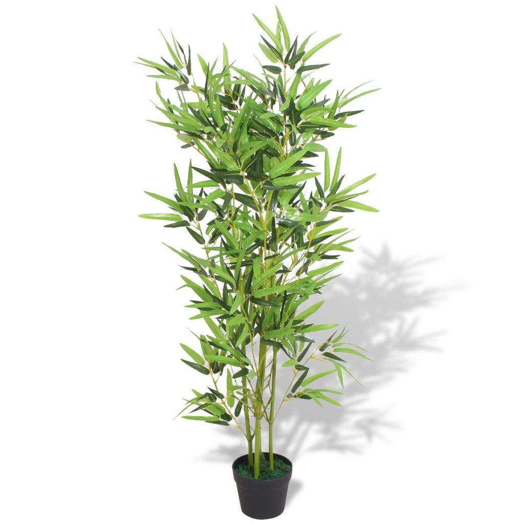 dès 49.99€, plante artificielle avec pot bambou 120 cm vert