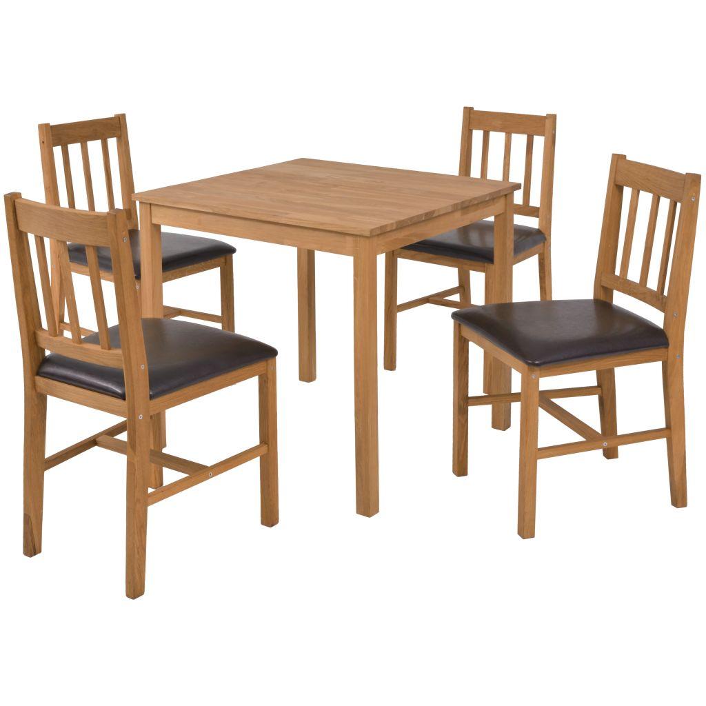 D s mobilier de salle manger 4 personnes ch ne massif for Mobilier salle a manger