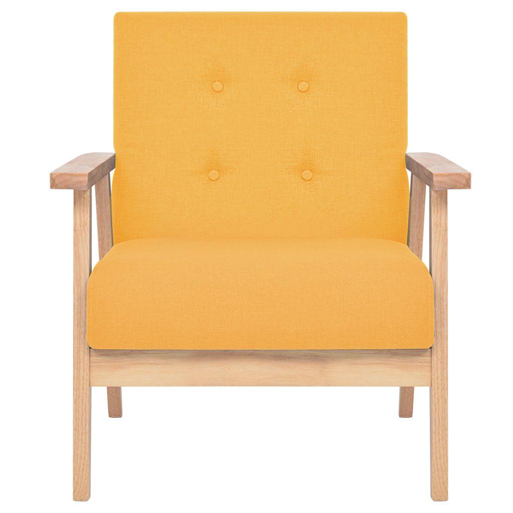 d s fauteuil style vintage en bois jaune. Black Bedroom Furniture Sets. Home Design Ideas