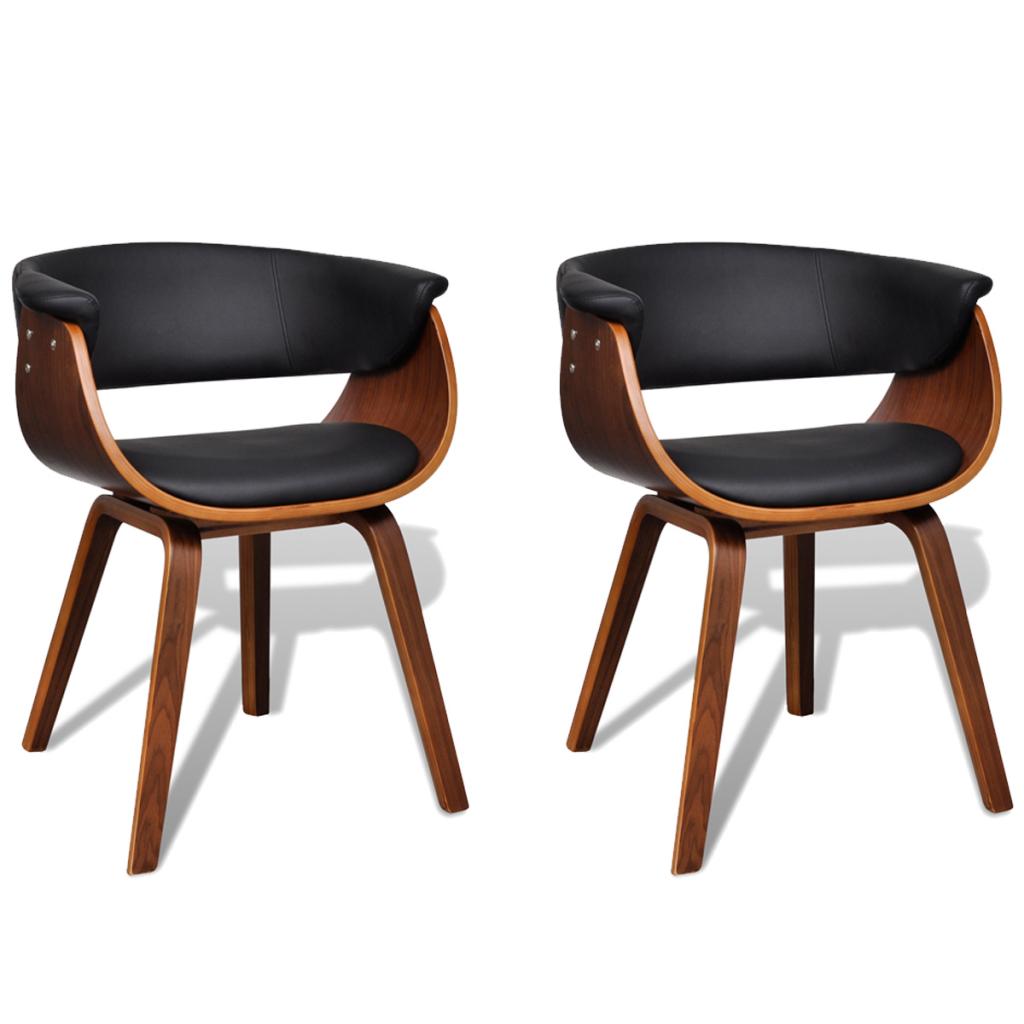 Lot de 2 chaises de salle manger en cuir artificiel for Chaise salle a manger en cuir