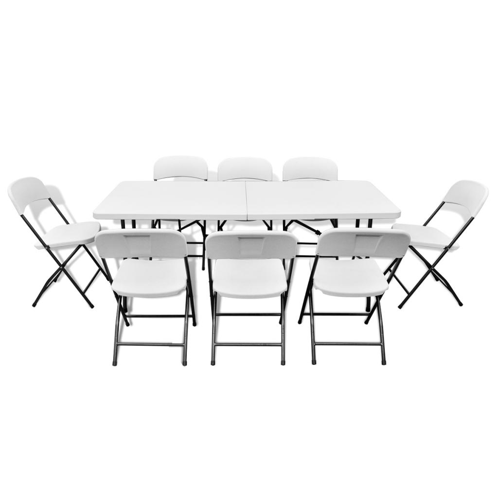 S lo mesa plegable con 8 sillas establece hdpe - Mesa plegable con sillas dentro ...