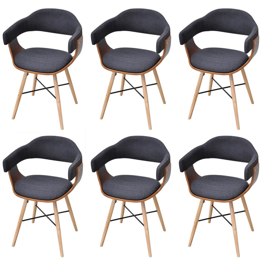 lot de 6 chaises de salle manger gris fonc interougehome. Black Bedroom Furniture Sets. Home Design Ideas