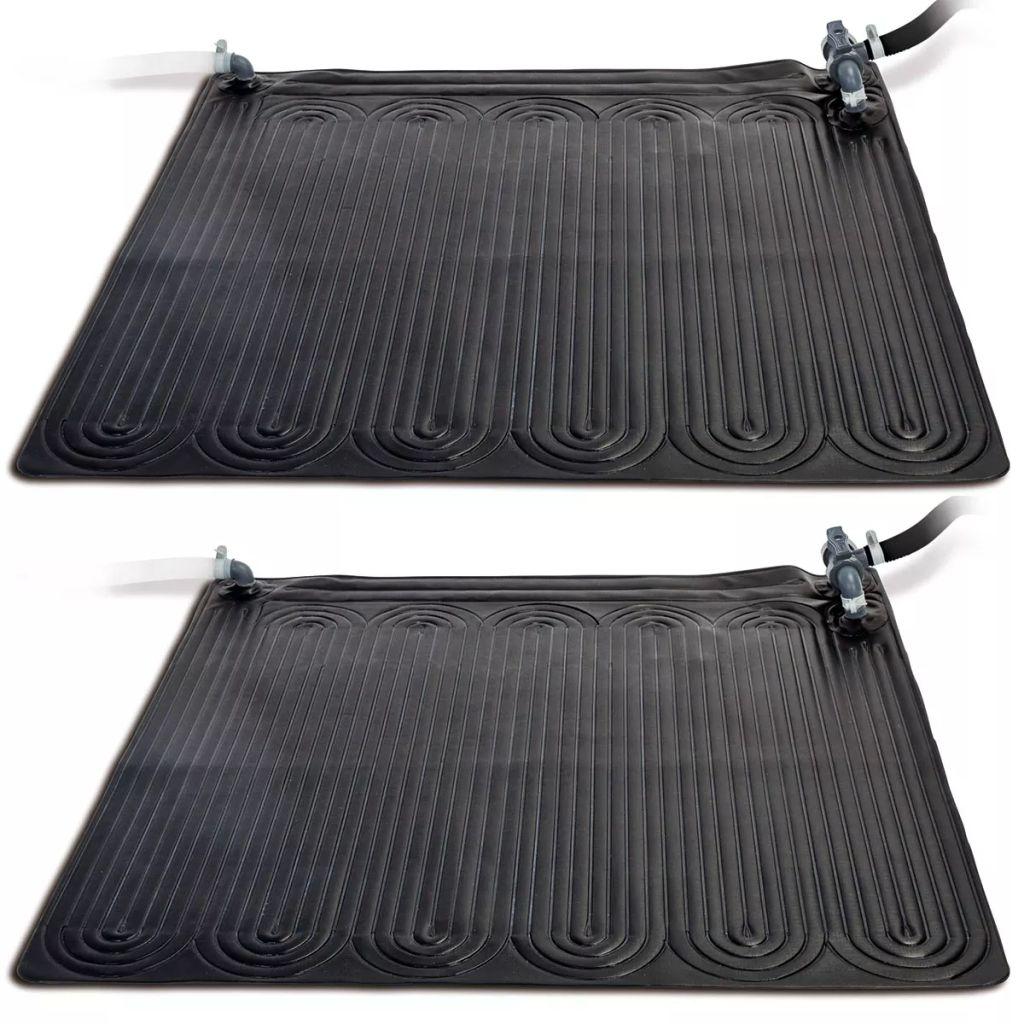 tapis chauffant solaire chauffage piscine pvc 12 x 12 m 2 pcs noir - Tapis Chauffant