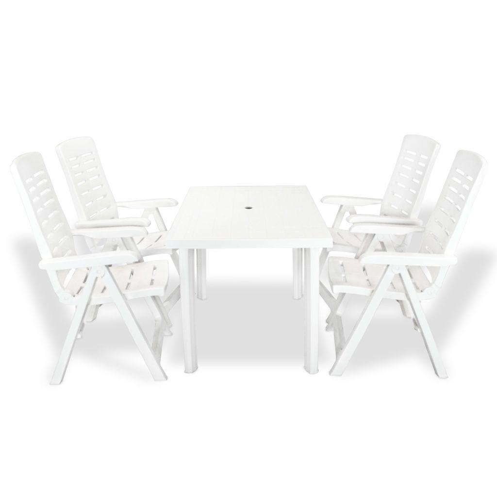 Jardin Blanc Plastique Personnes Et 4 De Ensemble Chaises Table dtQrxshC