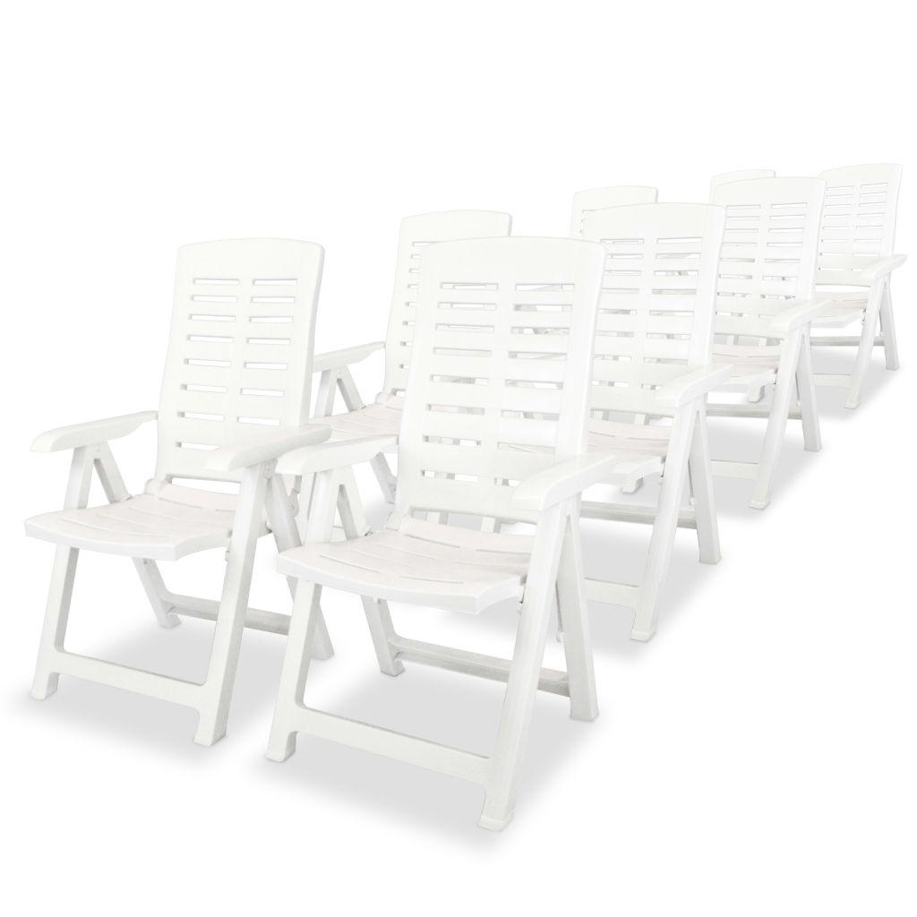 Ensemble de table et chaises 8 personnes plastique blanc for Ensemble table et chaise 8 personnes