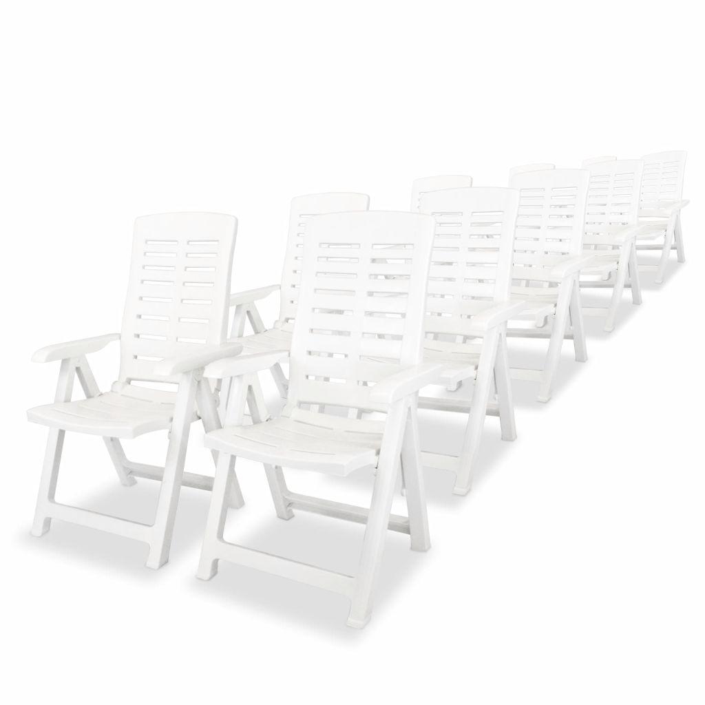 Ensemble de table et chaises 10 personnes plastique blanc for Ensemble table et chaise 2 personnes
