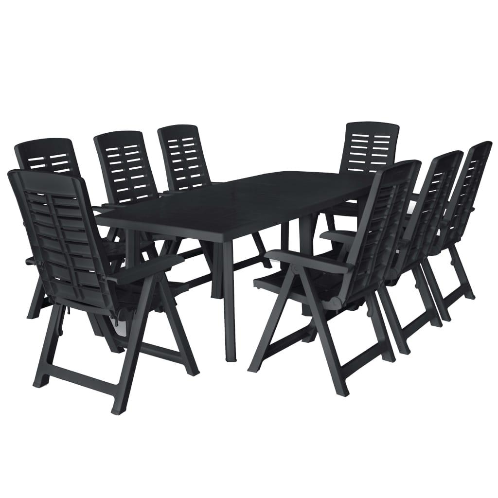 Dès 620.00€, Ensemble de salle à manger de jardin 9 pcs Plastique  Anthracite - Interougehome.com