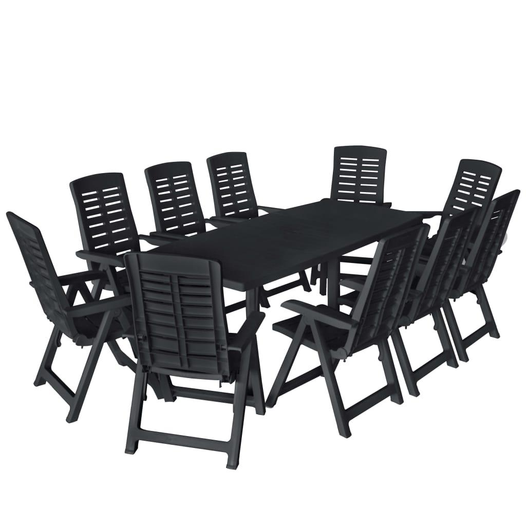 Dès 730.00€, Ensemble de salle à manger de jardin 11pcs Plastique  Anthracite - Interougehome.com