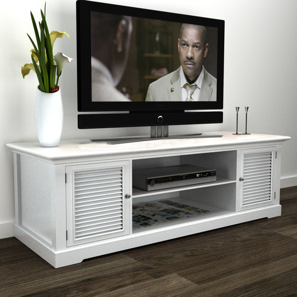 White Wooden TV Stand White And Wood Tv Stand H40