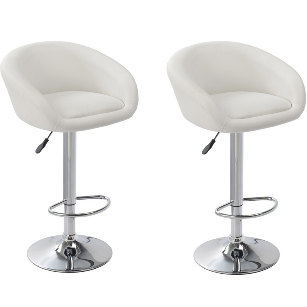 White Set Of 2 White Bar Stool Dallas Lovdock Com